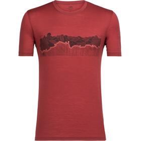 Icebreaker Tech Lite Haute Route Miehet Lyhythihainen paita , punainen